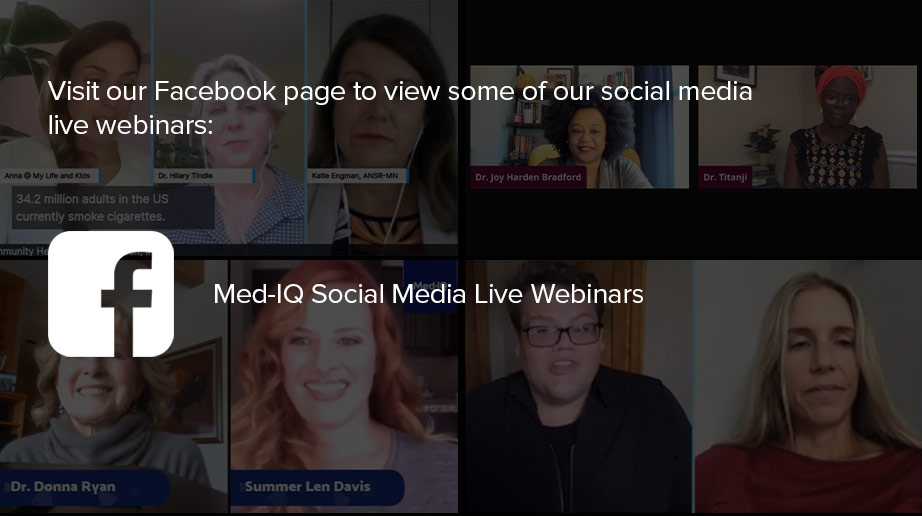 Visit our Facebook page to view some of our social media live webinars
